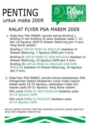 penting bagi maba fib ui 2009